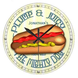 Funny Hotdog Personalized Wall Clock