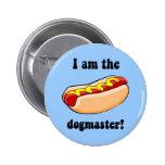 Funny hotdog pinback button