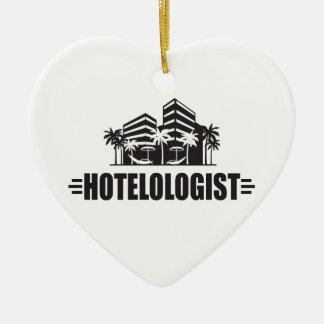 Funny Hotel Ceramic Ornament
