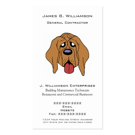 Funny hound dog general contractor simple generic business for How to be your own general contractor