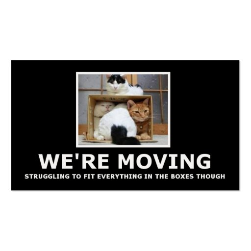 Funny house moving business cards zazzle for Moving business cards