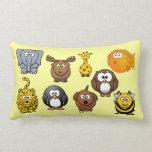 Funny House of Many Animals Cute Kids Cartoon Pillows