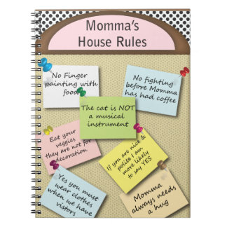 Funny  House Rules Notebook