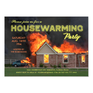 Funny Housewarming Party Invitations