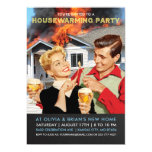 Funny New House On Fire Housewarming Party Invitation (visit shop for more housewarming party invitations, including a horizontal version of this one. Type
