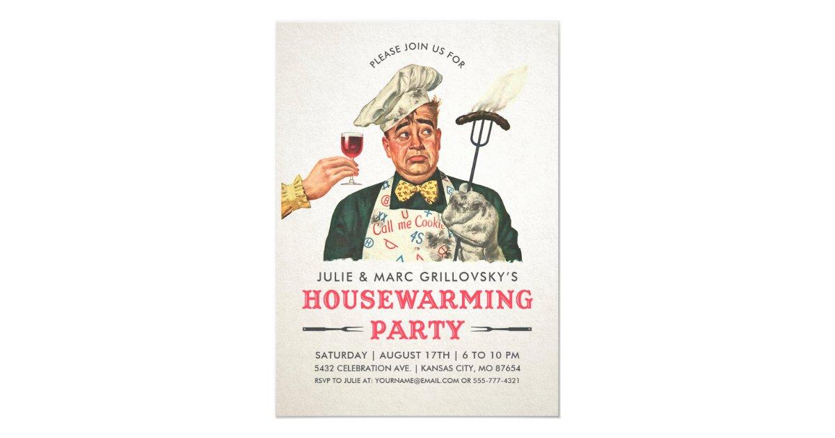 Funny Housewarming Party Invitations   Vintage   Zazzle.com
