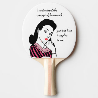 Funny Housework Concept Ping Pong Paddle