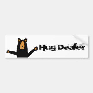 Funny Hug Dealer Black Bear Bumper Sticker
