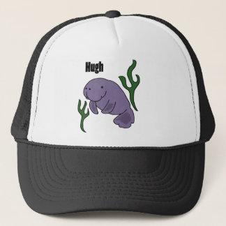 Funny Hugh Manatee Cartoon Trucker Hat