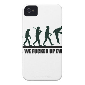 Funny Human Evolution Graphic Design iPhone 4 Case-Mate Case