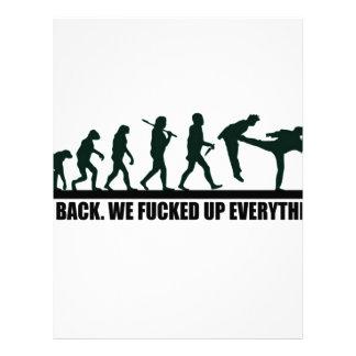 Funny Human Evolution Graphic Design Letterhead