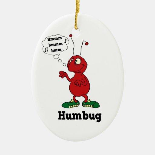 Funny Humbug Christmas Ornament