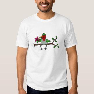 Funny Hummingbird Sipping through Straw T-shirt