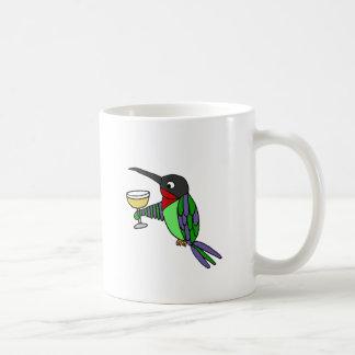 Funny Hummingbird with Wine Coffee Mug