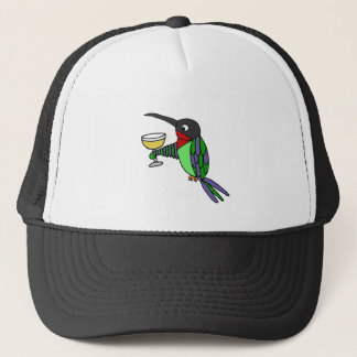 Funny Hummingbird with Wine Trucker Hat