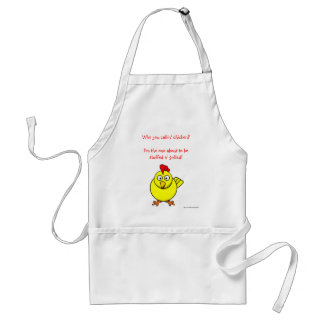 funny humor chicken aprons