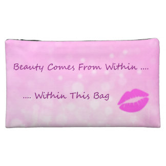 Funny Humor Cosmetics Beauty Within Cosmetic Bag