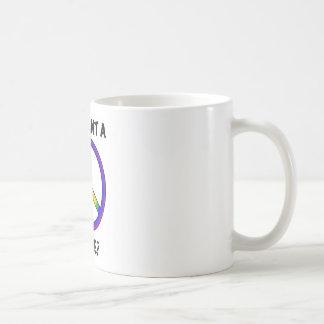 Funny Humor Rainbow Saying Want A Peace of Me sign Coffee Mug