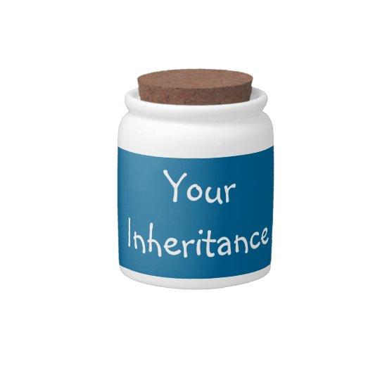Funny Humorous ceramic Candy jar Joke gift