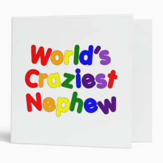 Funny Humorous Nephews : World's Craziest Nephew Vinyl Binders