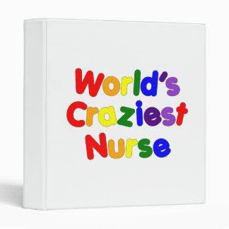 Funny Humorous Nurses : World's Craziest Nurse 3 Ring Binder