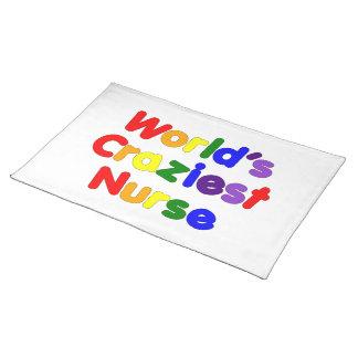 Funny Humorous Nurses : World's Craziest Nurse Placemat