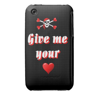 Funny humorous pirate flag iPhone 3 Case-Mate case