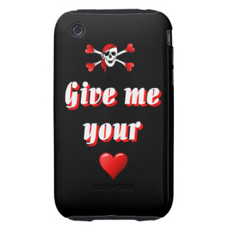 Funny humorous pirate flag iPhone 3 tough case