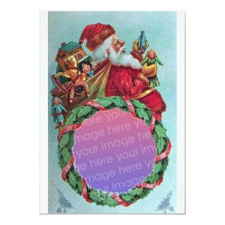 FUNNY,HUMOROUS SANTA VINTAGE Photo Template White 5x7 Paper Invitation Card