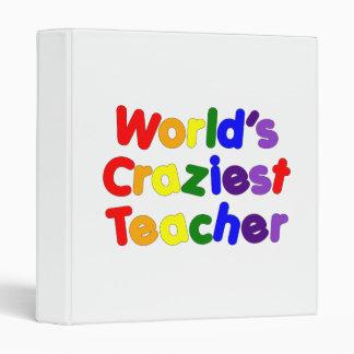Funny Humorous Teachers : World's Craziest Teacher Vinyl Binder