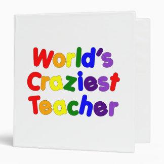 Funny Humorous Teachers : World's Craziest Teacher Vinyl Binders
