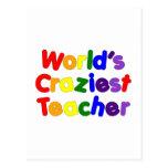 Funny Humorous Teachers : World's Craziest Teacher Postcard
