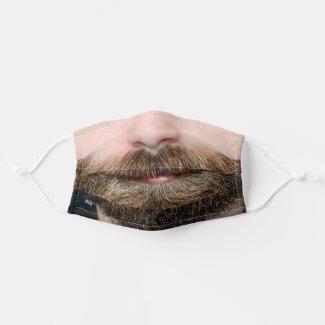 funny humour novelty hipster man beard cloth face mask