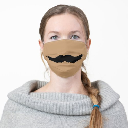 funny humour novelty hipster man beard moustache cloth face mask