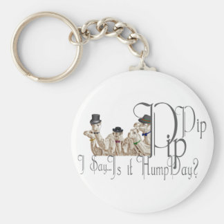 Funny Hump Day Camels  in Monocles Basic Round Button Keychain