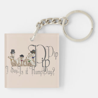 Funny Hump Day Camels  in Monocles Acrylic Key Chain