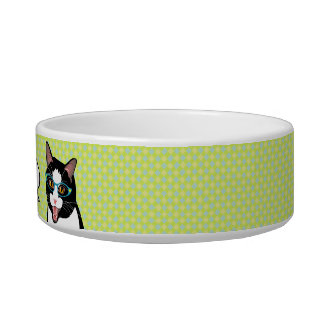 Funny Hungry Cat pet bowl, Cheerful, Cute! Bowl