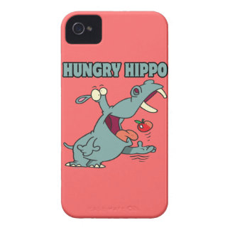 funny hungry hippo cartoon Case-Mate iPhone 4 cases