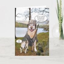 Funny Hunting Dog/Lab Father's Day Card