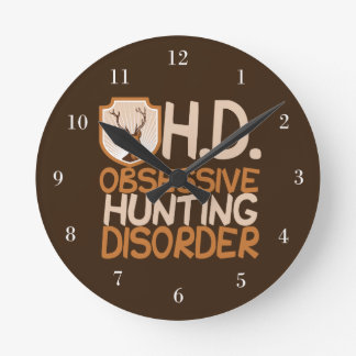 Funny Hunting Round Clock