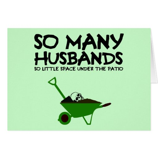 Funny husband greeting card