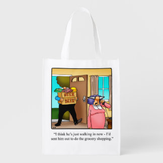 Funny Husband Grocery Reusable Bag