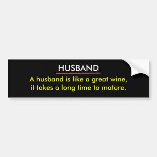 Funny Husband Wine Bumper Sticker