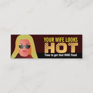 Hvac business cards zazzle funny hvac business cards accmission Images