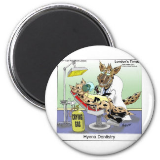 Funny Hyena Dentistry Tees Mugs Cards & More 2 Inch Round Magnet