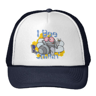 Funny I Bee Chillin' Trucker Hat