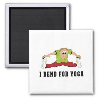 Funny I Bend For Yoga Men's 2 Inch Square Magnet