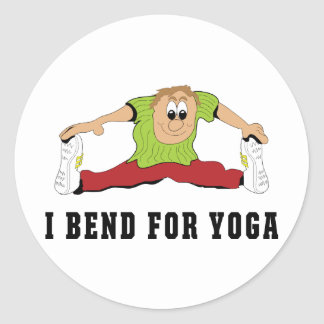 Funny I Bend For Yoga Men's Classic Round Sticker