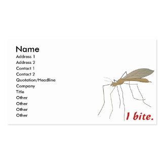funny i bite mosquito design business card template