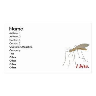 funny i bite mosquito design business card templates